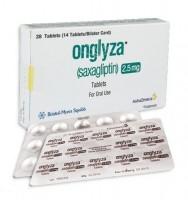 Box and blister strip of generic Saxagliptin 2.5 mg  Tablets