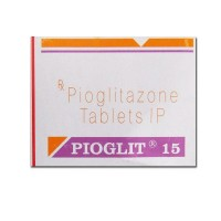 Box of generic Pioglitazone Hydrochloride 15mg tablets