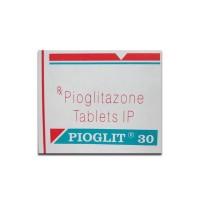 Box of generic Pioglitazone Hydrochloride 30mg tablets