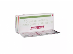 Box and blister strips of generic Olanzapine 15mg tablet