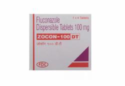 A box of generic fluconazole 100mg tablet