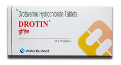 Box of generic Drotaverine 40 mg Tablet