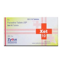 Box of generic Paroxetine Hydrochloride 10mg tablets