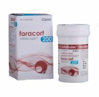 Box and bottle of generic budesonide 200mcg, formoterol fumarate 6mcg rotacaps