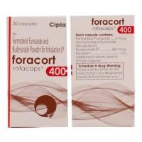 Box and bottle of generic budesonide 400mcg, formoterol fumarate 6mcg rotacaps
