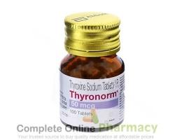 A bottle of levothyroxine sodium 50mcg Tablets