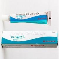 Box and tube of generic tazarotene 0.05 % Gel - 15gm Each Tube