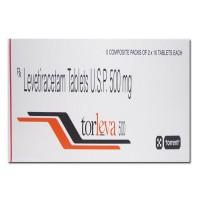 A box of generic Levetiracetam 500mg tablet
