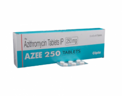 Box of generic azithromycin  250mg tablet
