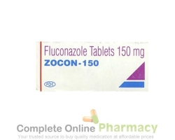 A box of generic fluconazole 150mg tablet