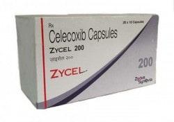 Box of generic Celecoxib 200mg capsule