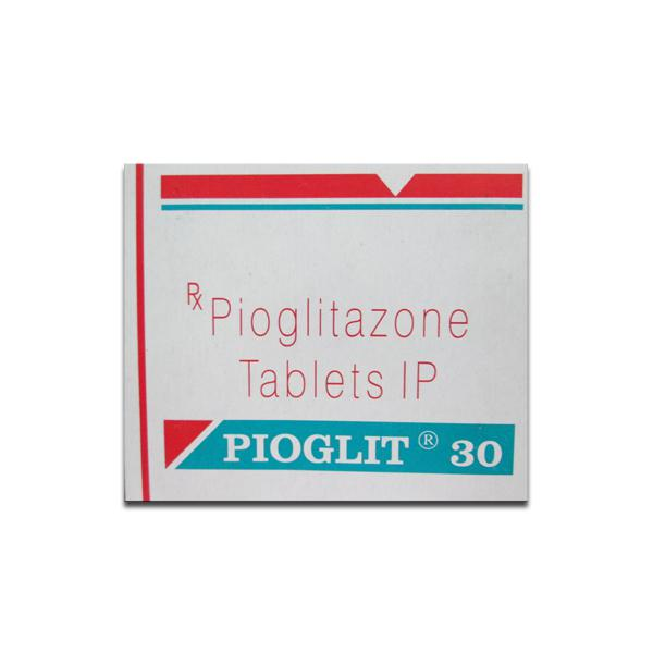 Box of generic Pioglitazone Hydrochloride 30mg tablets