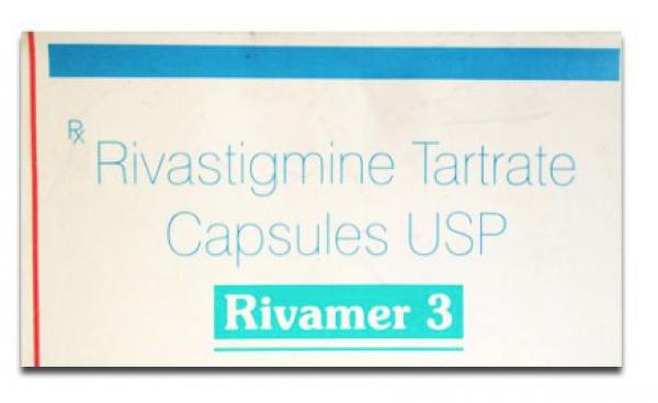 A box of generic Rivastigmine Tartrate 3mg capsule