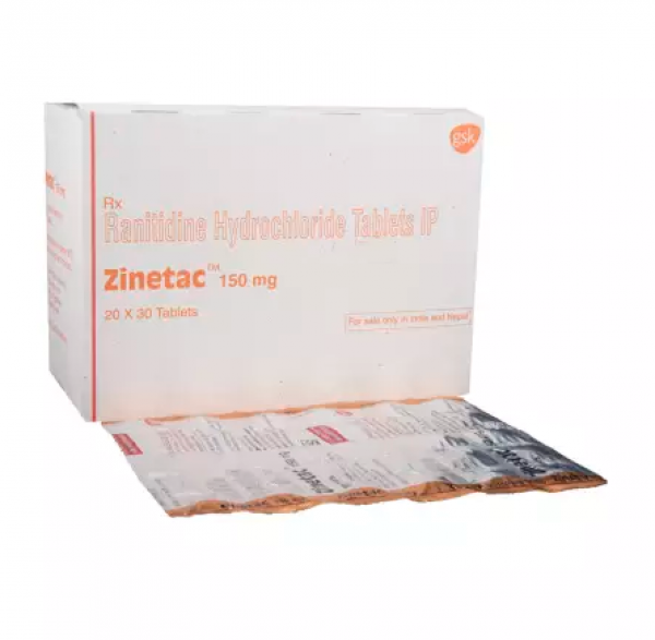 Box and blister strip of generic ranitidine hydrochloride 150mg tablet