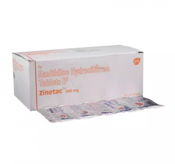 Box and blister strip of generic ranitidine hydrochloride 300mg tablet