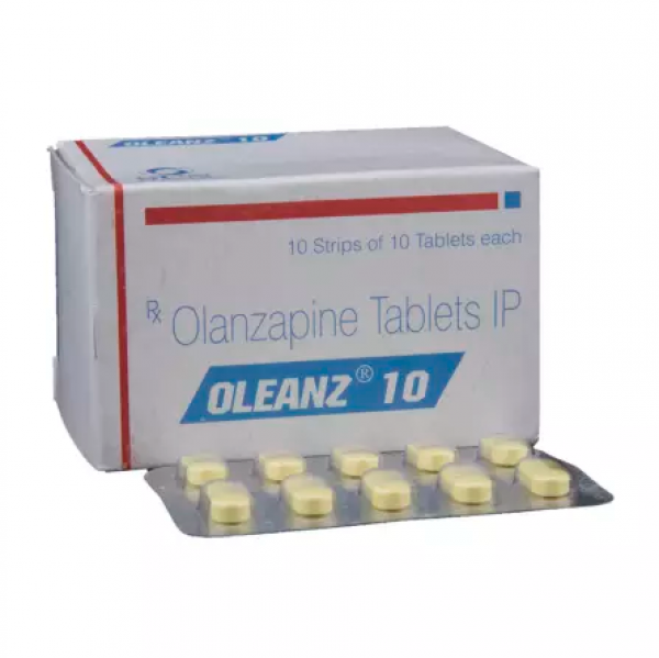 Box and blister strip of generic Olanzapine 10mg tablet